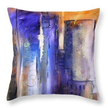 Sunrise On Twin Towers Throw Pillow