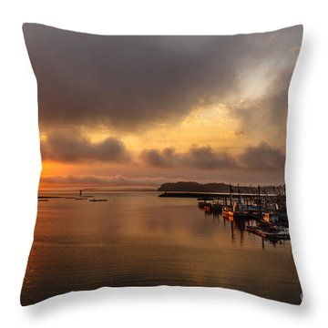 Sunrise On Willapa Bay Throw Pillow