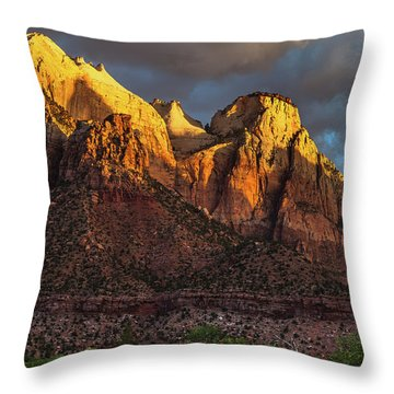 Sunrise On Zion National Park Throw Pillow