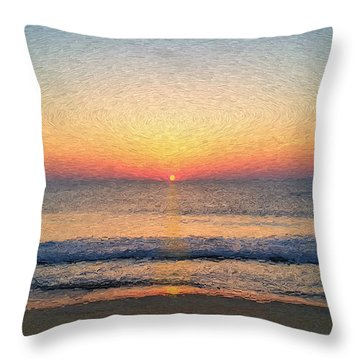 Sunrise Outer Banks Obx Throw Pillow