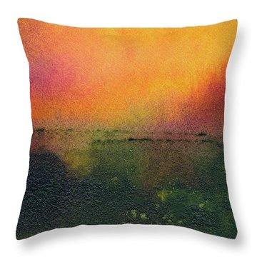 Sunrise Over A Marsh Throw Pillow
