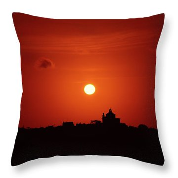 Sunrise Over A Small Town Throw Pillow by Stephan Grixti