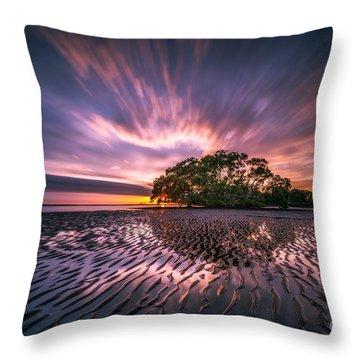 Center Glow Throw Pillows