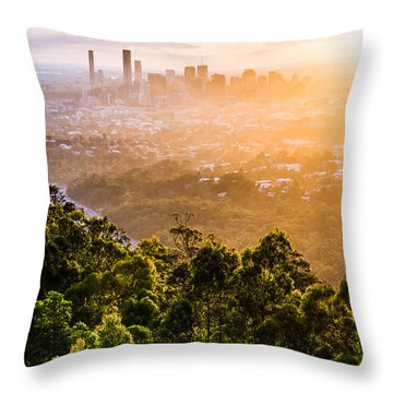 Sunrise Over Brisbane Throw Pillow