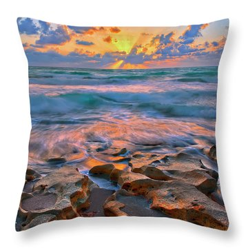 Sunrise Over Carlin Park In Jupiter Florida Throw Pillow