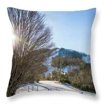 Sunrise Over Cataloochee Ski Throw Pillow