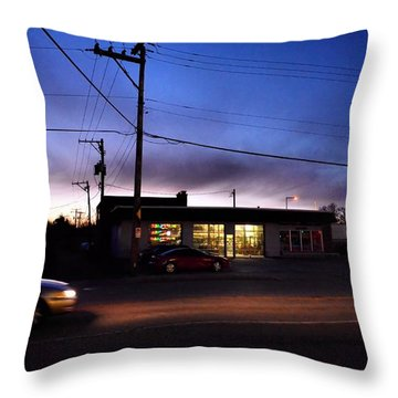 Sunrise Over Charlie's Throw Pillow by Jeanette O'Toole