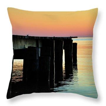 Sunrise Over Chesapeake Bay Throw Pillow