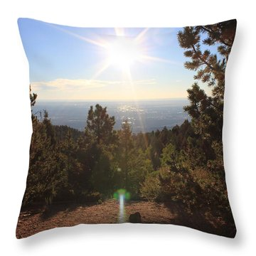 Sunrise Over Colorado Springs Throw Pillow