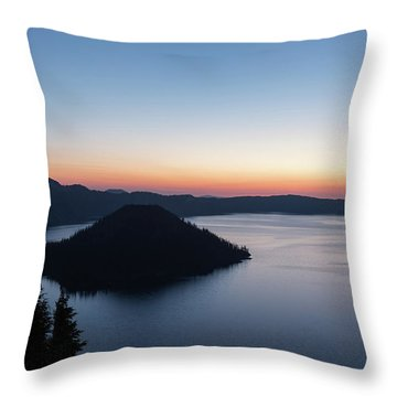 Throw Pillow featuring the photograph Sunrise Over Crater Lake by Paul Schultz