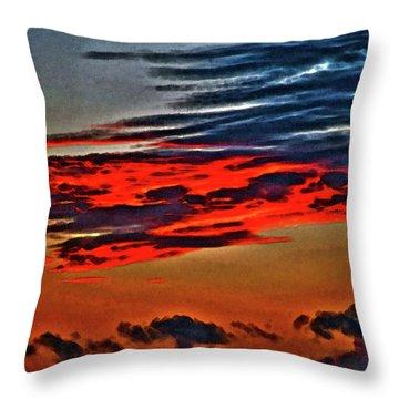 Sunrise Over Daytona Beach Throw Pillow