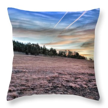 Throw Pillow featuring the photograph Sunrise Over Ft. Apache by Lynn Geoffroy