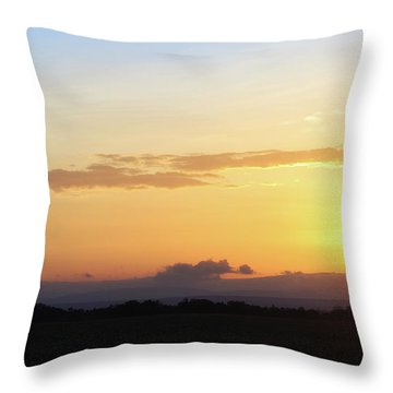 Sunrise Over Kenya Africa With Balloon Throw Pillow