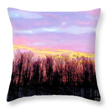 Sunrise Over Lake Throw Pillow by Craig Walters