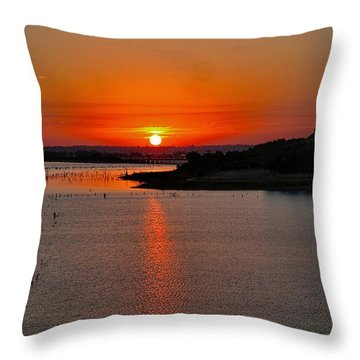 Throw Pillow featuring the photograph Sunrise Over Lake Ray Hubbard by Diana Mary Sharpton