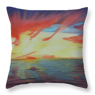 Sunrise Over Matagorda Bay Throw Pillow