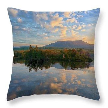 Sunrise Over Mt. Katahdin Throw Pillow