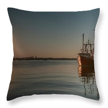 Sunrise Over New Bedford, Throw Pillow