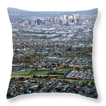 Sunrise Over Phoenix Arizona Throw Pillow