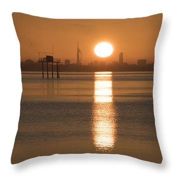 Sunrise Over Portsmouth Throw Pillow