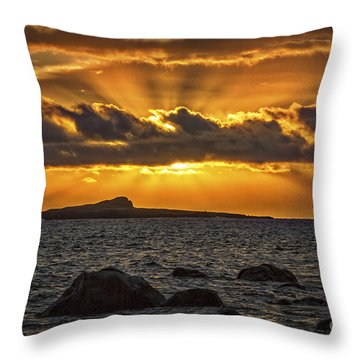 Sunrise Over Rabbit Head Island Throw Pillow by Mitch Shindelbower