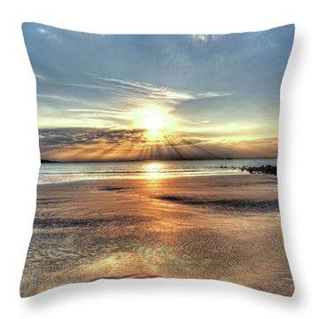 Sunrise Over Red Rock Park Lynn Ma Kings Beach Throw Pillow