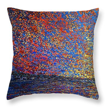 Sunrise Over St Andrews Nb Throw Pillow