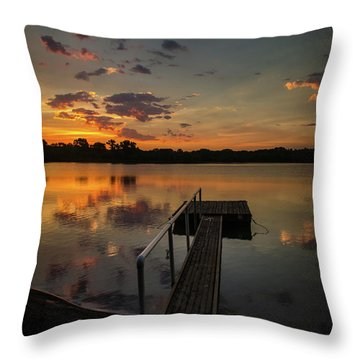 Sunrise Over Stuber's Dock V Throw Pillow