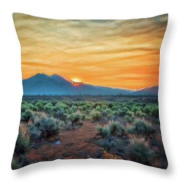 Sunrise Over Taos II Throw Pillow
