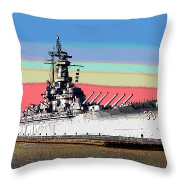 Sunrise Over The Alabama Throw Pillow by Charles Shoup