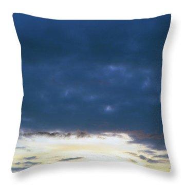Sunrise Over The Cascades Throw Pillow