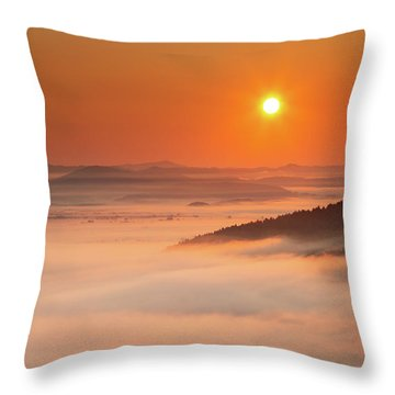 Sunrise Over The Moors Throw Pillow