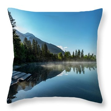 Throw Pillow featuring the photograph Sunrise Over The Mountain And Through The Tree by Darcy Michaelchuk