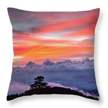 Throw Pillow featuring the photograph Sunrise Over The Smoky's II by Douglas Stucky