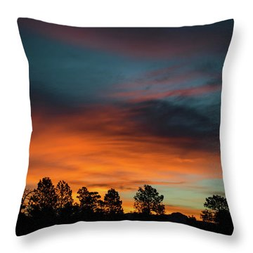 Sunrise Over The Southern San Juans Throw Pillow