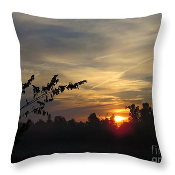 Sunrise Over The Trees Throw Pillow by Craig Walters