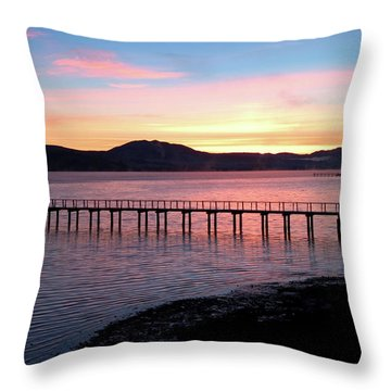 Sunrise Over Tomales Bay Throw Pillow