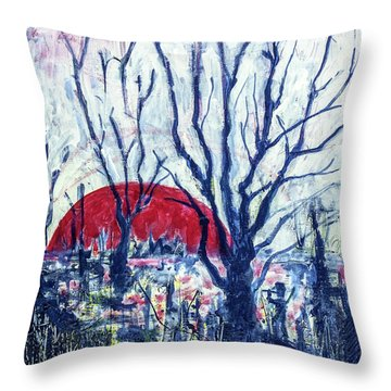 Sunrise Over Wetland Throw Pillow