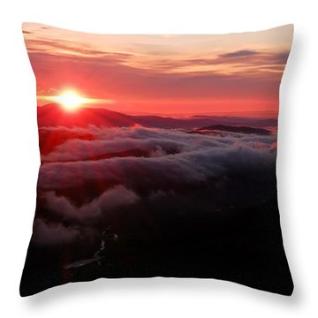 Sunrise Over Wyvis Throw Pillow