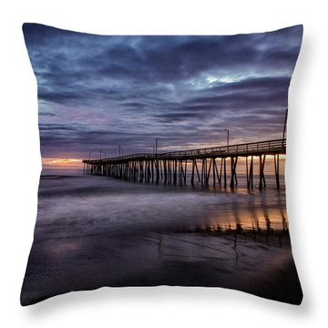 Sunrise Pier Throw Pillow