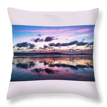 Sunrise Pink Wisps Delray Beach Florida Throw Pillow