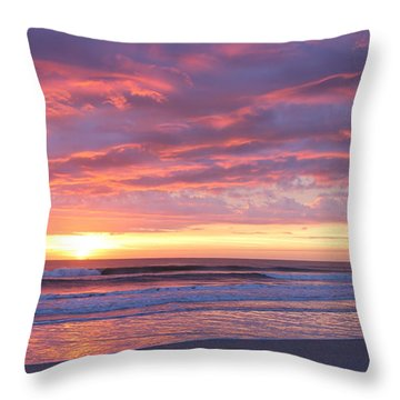 Sunrise Pinks Throw Pillow