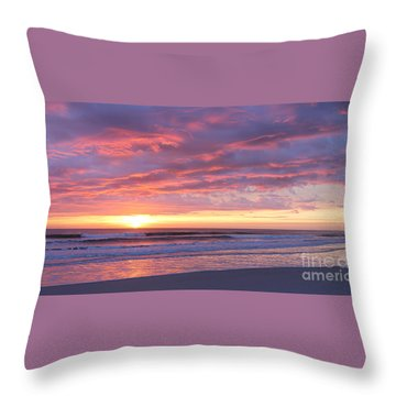 Throw Pillow featuring the photograph Sunrise Pinks by LeeAnn Kendall