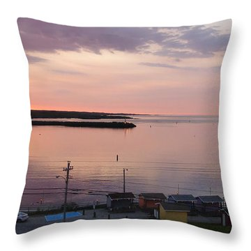 Sunrise Port Aux Basque, Newfoundland  Throw Pillow
