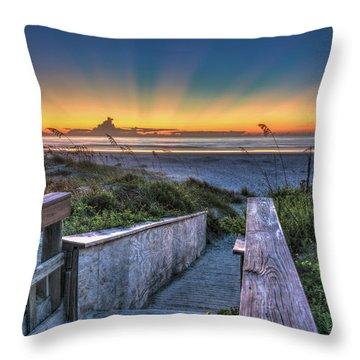 Sunrise Radiance Throw Pillow
