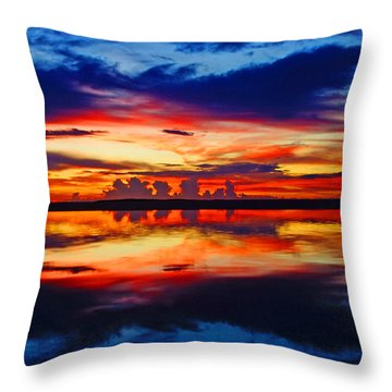 Sunrise Rainbow Reflection Throw Pillow
