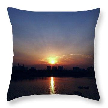 Sunrise Reflection Throw Pillow