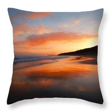 Sunrise Reflection Throw Pillow by Roy McPeak