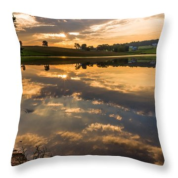 Sunrise Reflections Throw Pillow