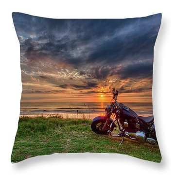 Sunrise Ride Throw Pillow